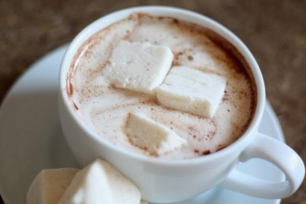 Легкий горячий шоколад дома