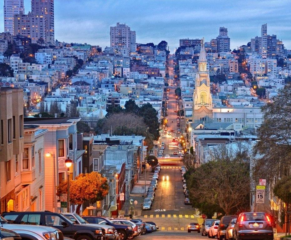 Улица Сан-Франциско, Штат Калифорния, США