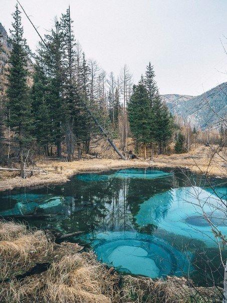 Живое гейзерное озеро в глубине Алтайской республики