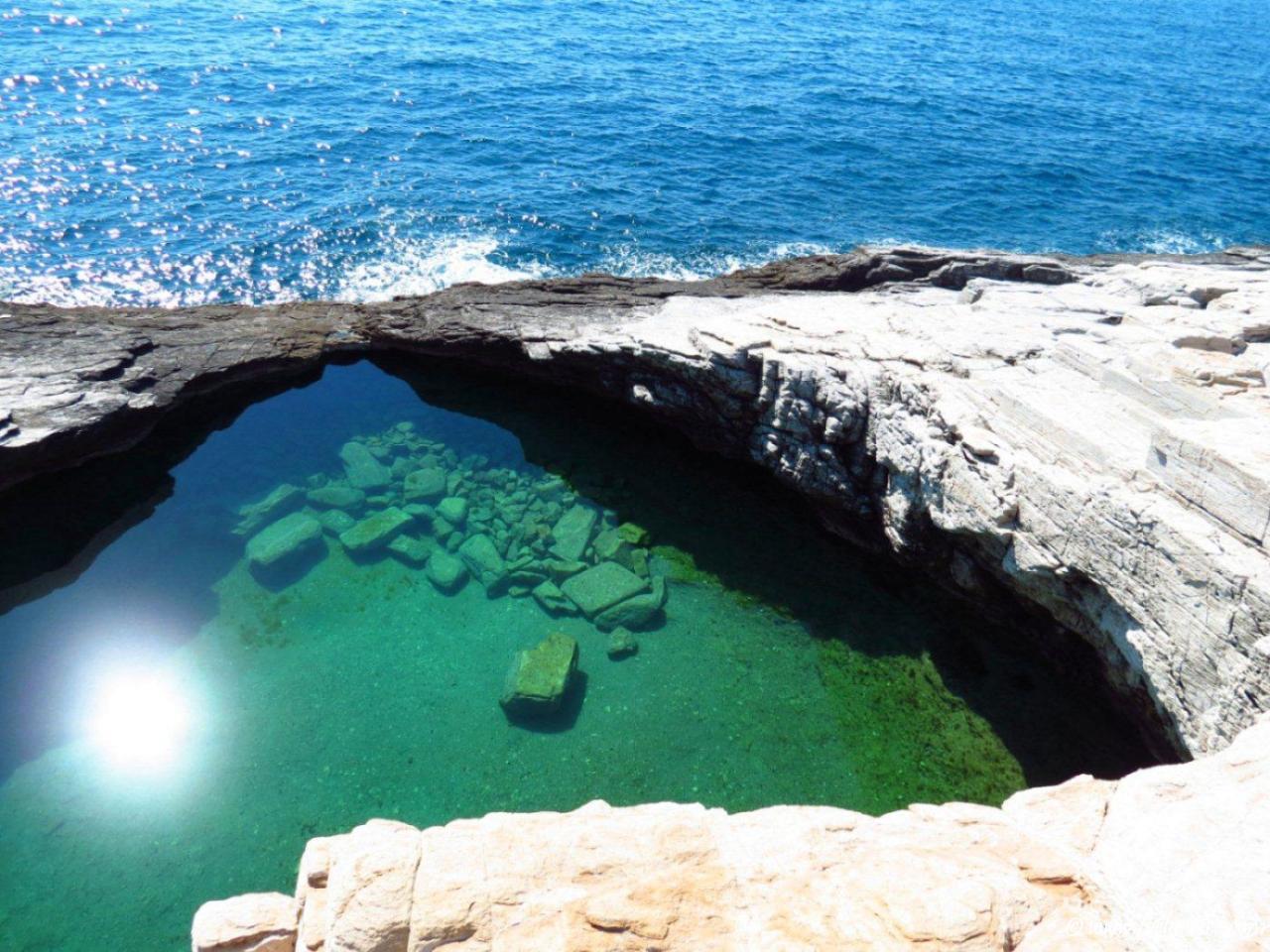 естественные бассейны карибского моря фото вот, вторая