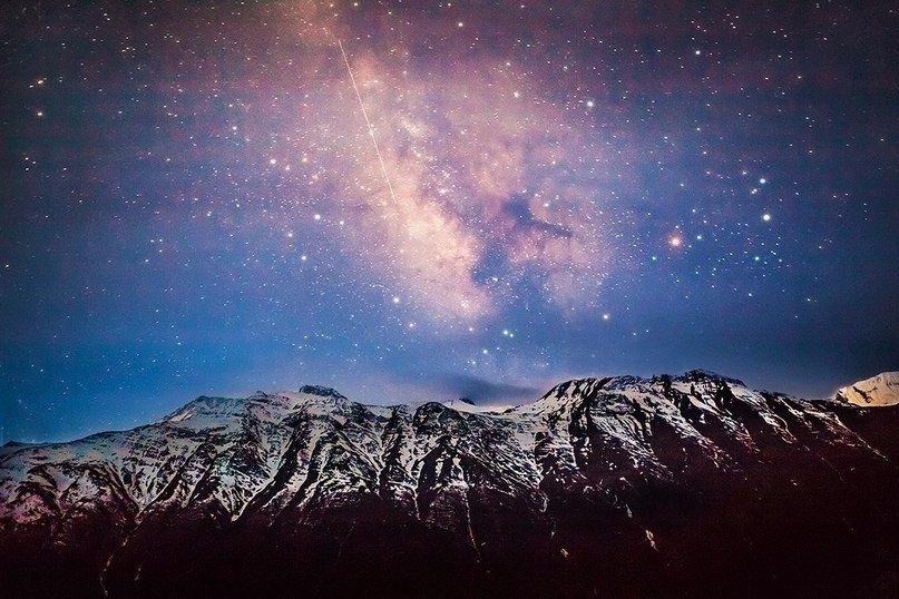Ночное небо над Эльбрусом, Кабардино-Балкария