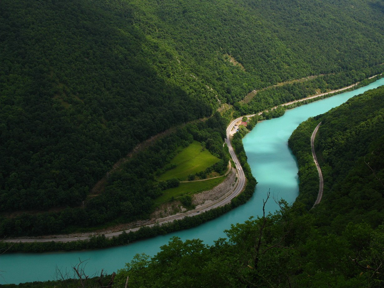 Бирюзовая река Соча, Словения