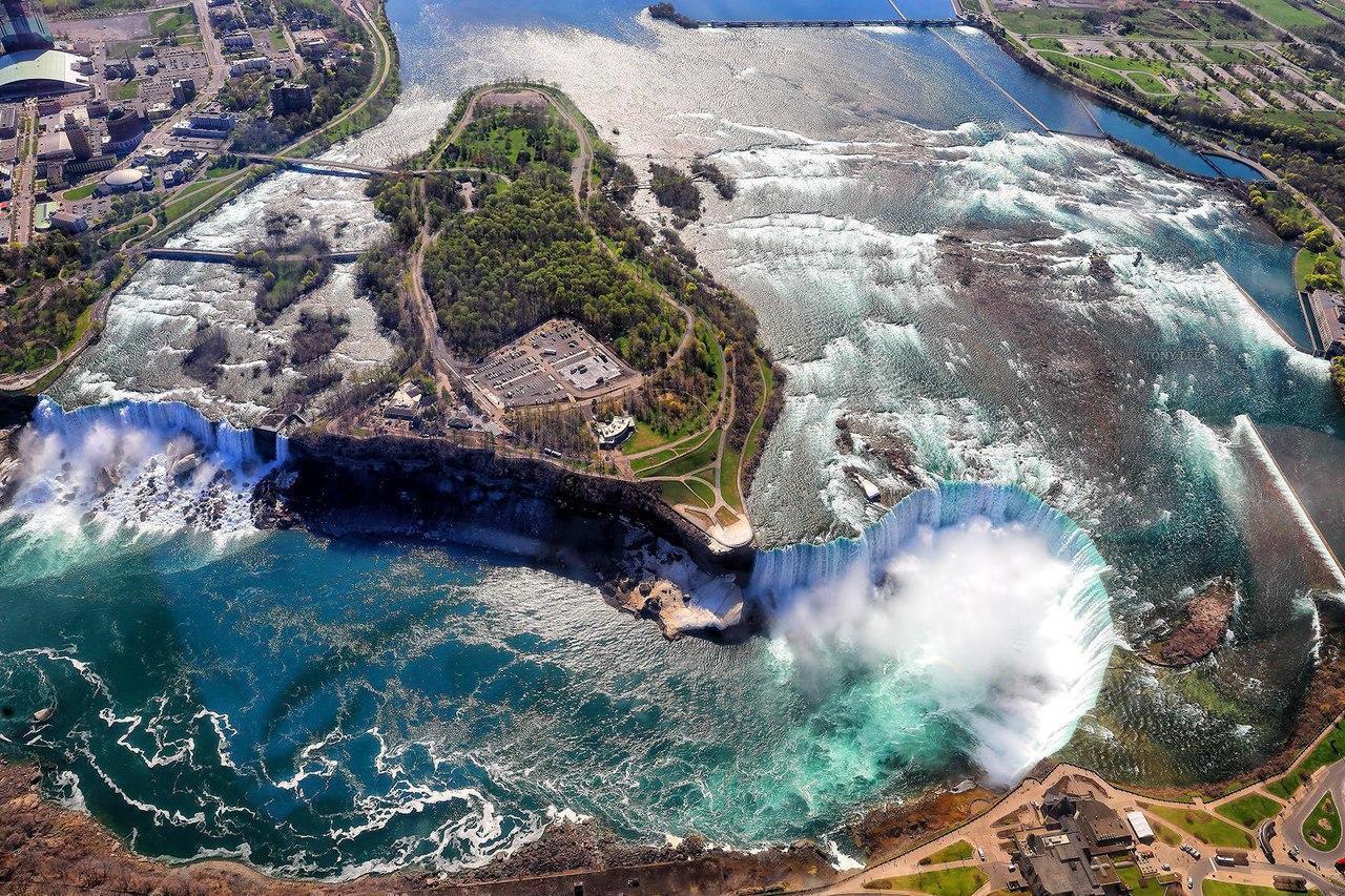 Ниагарский водопад, вид сверху