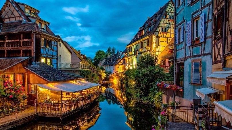 Сказочный эльзаский городок Кольмар, Франция