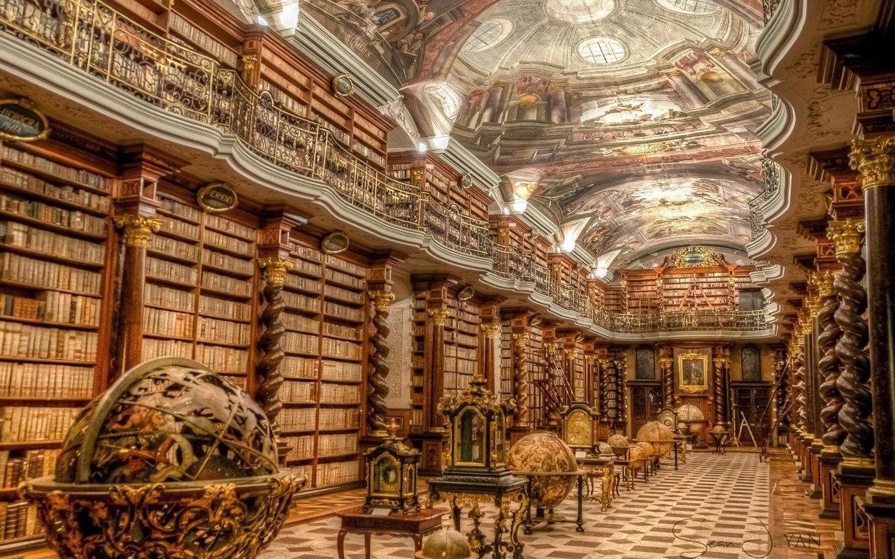 Клементинум - самая красивая библиотека в мире. Прага, Чехия
