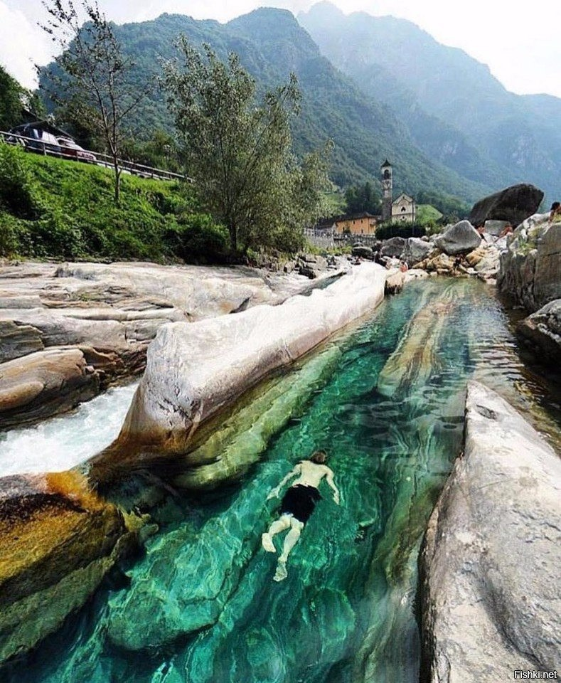 Верзаска — самая прозрачная река в мире.