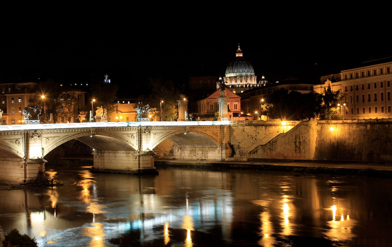 Вечер на Тибре, Италия