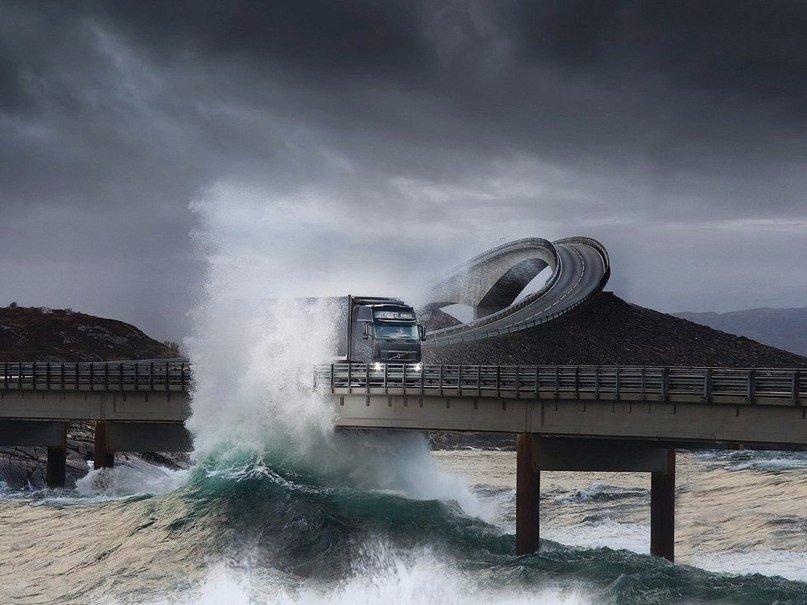 Атлантик Роуд - самая красивая дорога мира, Норвегия