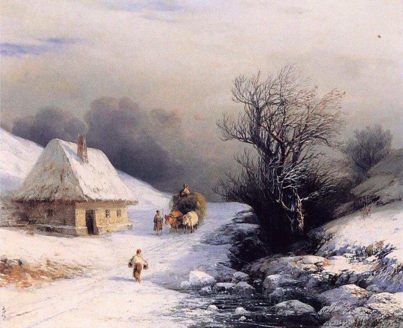 Редкая коллекция зимних пейзажей Айвазовского