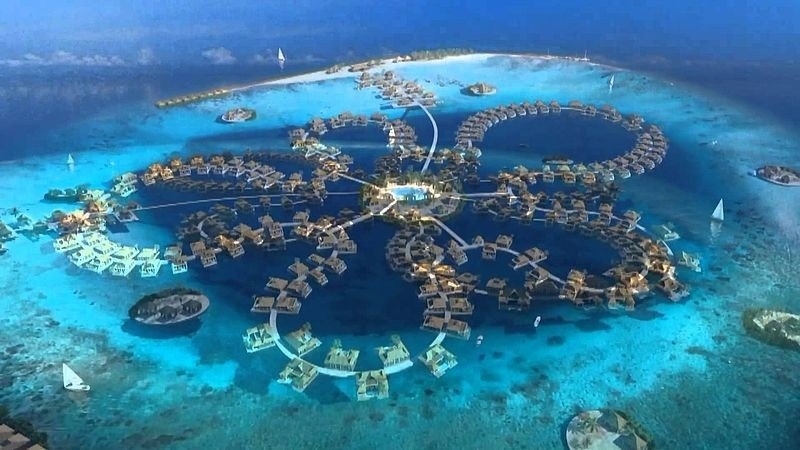 Цветок океана - подводный отель на Мальдивах